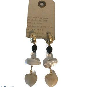 Anthropologie Earrings Heart Stones